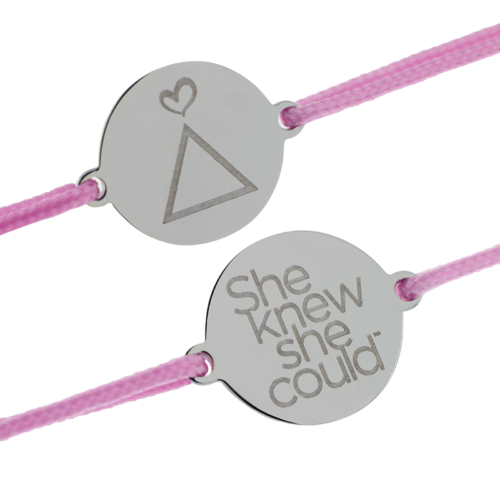 (Youth Size) She Knew She Could-Pink