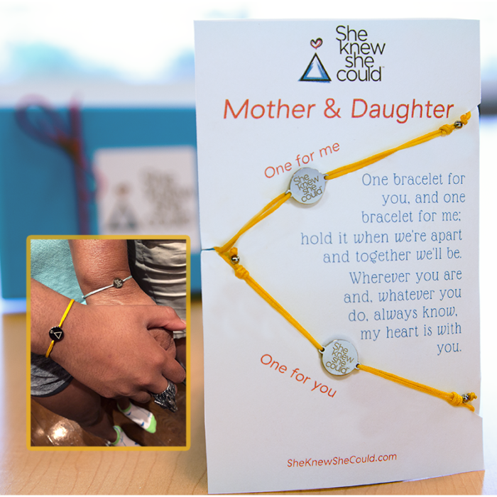 a.     Mother Daughter Bracelets- (Multiple Color Options)