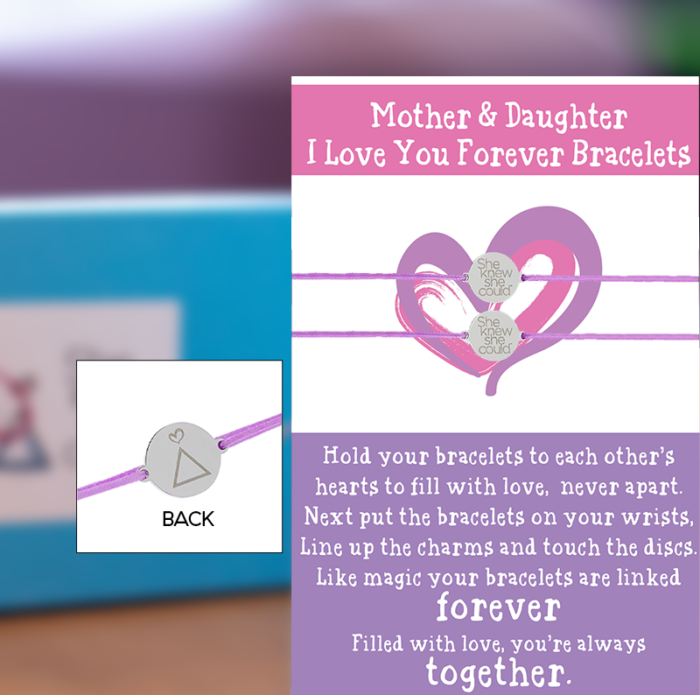 "a. Mother Daughter ""I Love You Forever"" Bracelets"