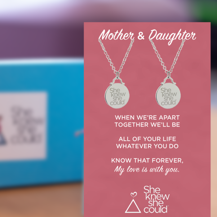 Mother Daughter Love Connection Necklace